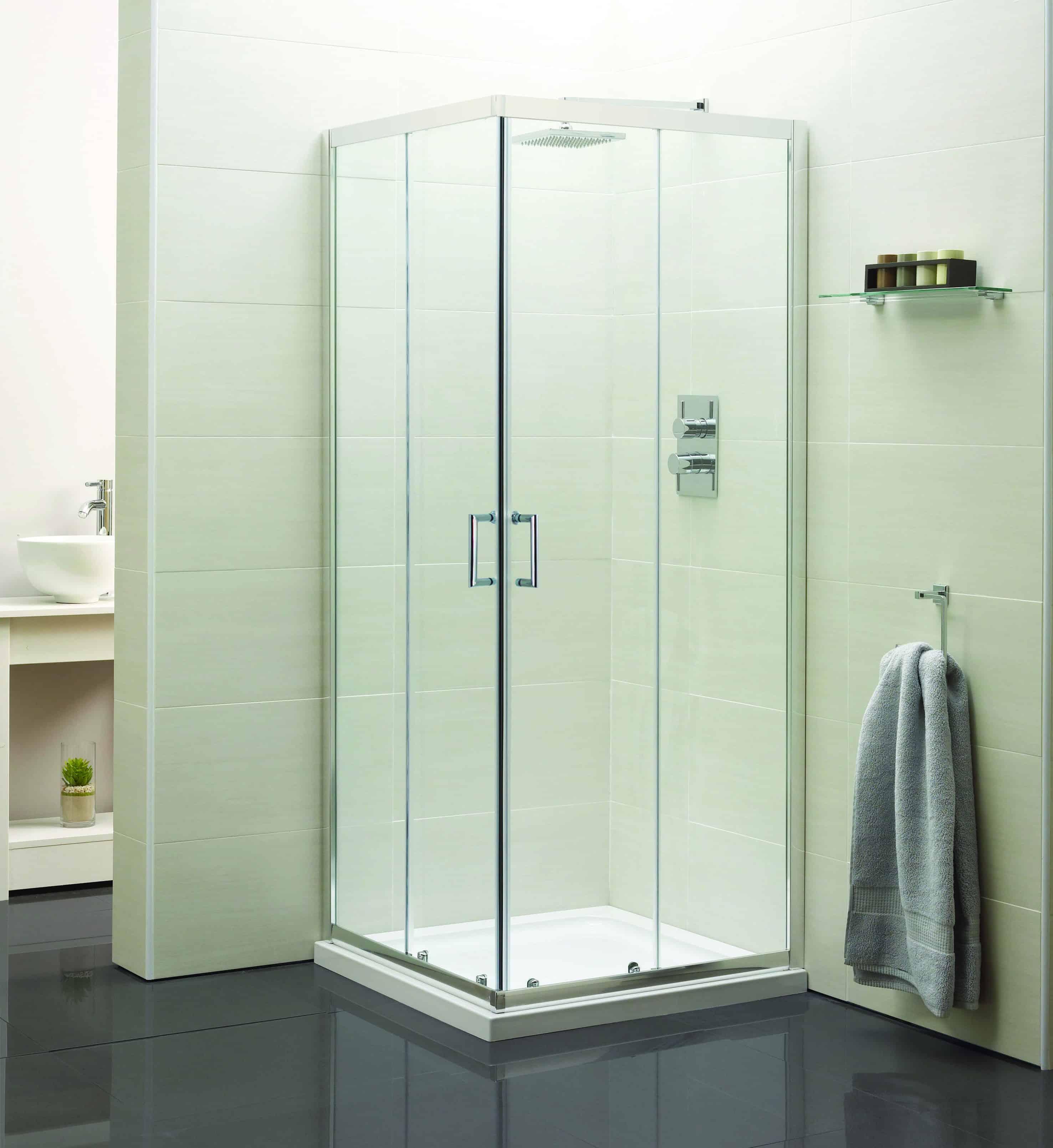 Aqua 760mm Corner Entry Shower Enclosure | Niko Bathrooms