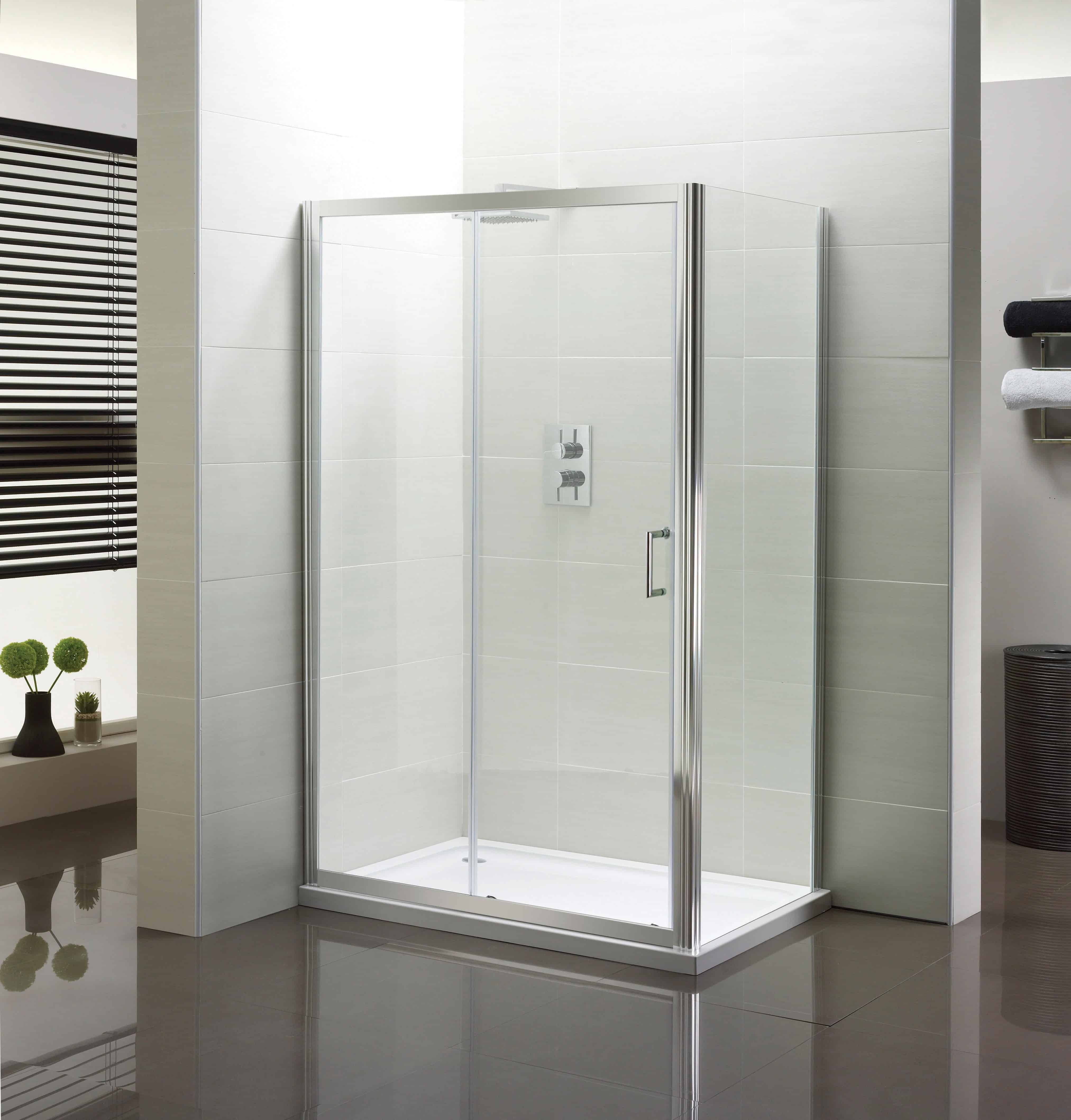 Aqua 1200mm Slider Shower Enclosure | Niko Bathrooms