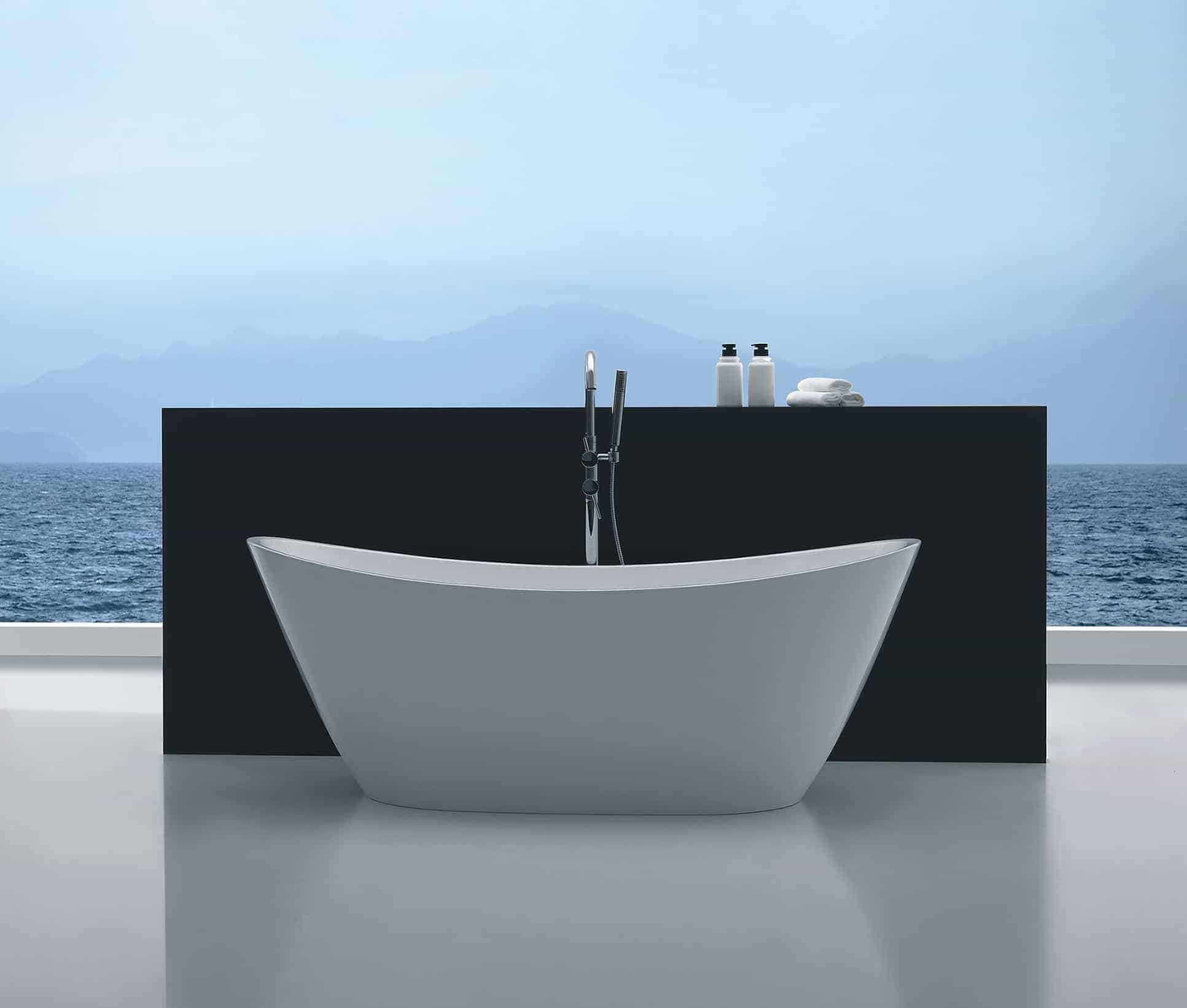 Aphrodite Free-Standing Bath White | Niko Bathrooms