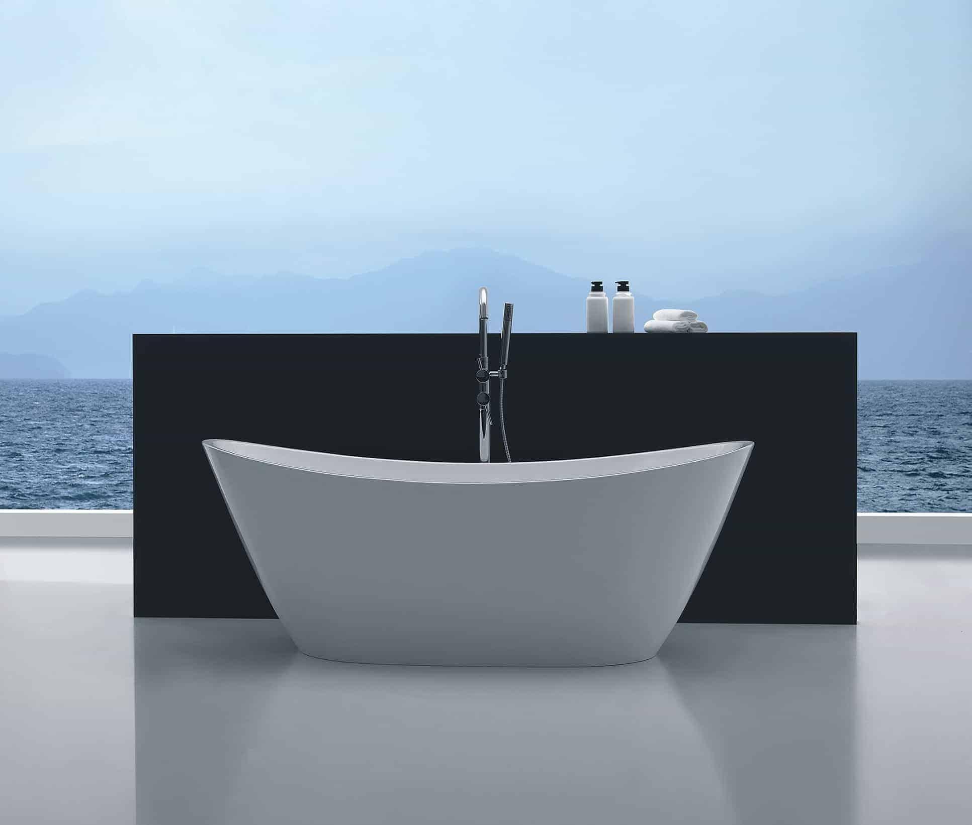 Aphrodite Free Standing Bath White Niko Bathrooms
