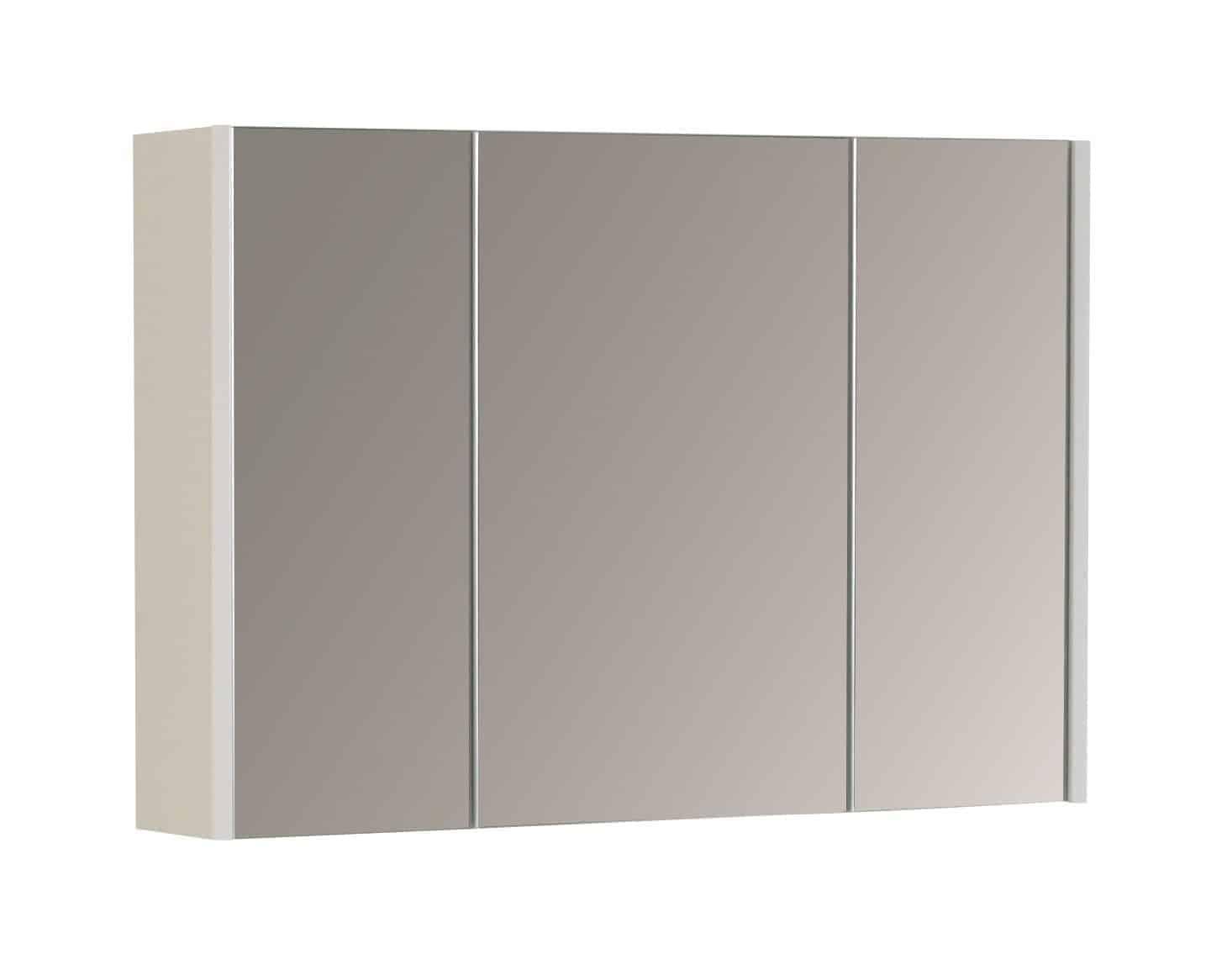 Moderna Mirror Cabinet White Gloss 850mm
