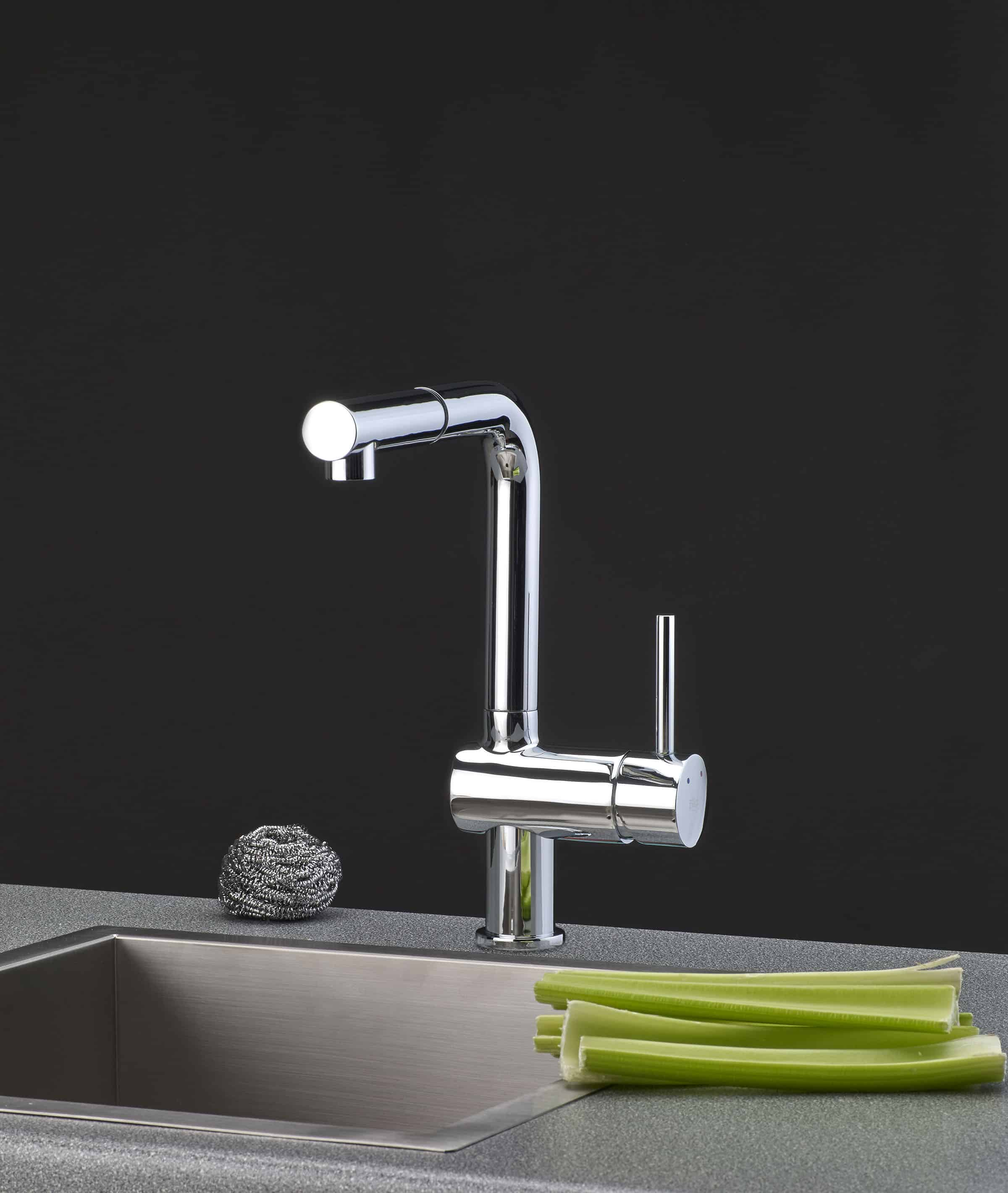 Francis Pegler Adorn Pull Out Spout Chrome Sink Mixer