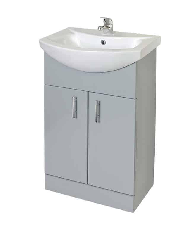 550mm Moderna Basin Floor Standing Unit Berlin Grey